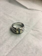 David Yurman silver 14K Blue Topaz dome ring approximate size 7