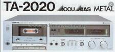 Onkyo TA-2020 Stereo Cassette Tape Deck Hifi Separate Recorder **gepflegt**