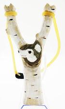 Fionda in legno bianco a forma di lupo misura 20 cm