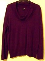 East 5th Womens Purple Slouch Turtle Neck Sweater Size XL