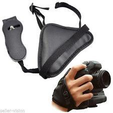 Correas correa de muñeca negra para cámaras de vídeo y fotográficas