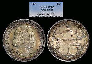 1892 Columbian graded MS65 by PCGS l Pretty Tone!