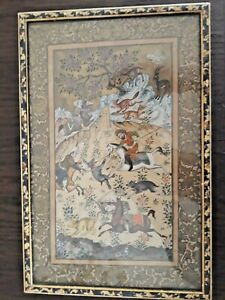 AN OLD PERSIAN PAINTING ON PAPER WITH FRAME 20*30CM/7.87*11.81in