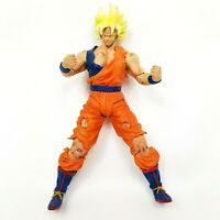 DBZ Super Saiyan Goku Action Figure Dragon Ball Z Jakks 2003 Movie Battle Damage