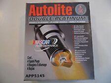 New Autolite Double Platinum Spark Plugs APP5145 (Box of 4)