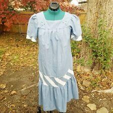 PRAIRIE Dress puffy sleeve colonial look Vintage below knee cotton house dress