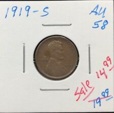 1919-S 1C BN Lincoln Cent In AU++ Condition