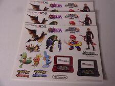 Nintendo 3DS ZELDA MARIO POKEMON & More Sticker Sheet X3 Promo Display