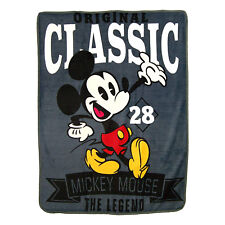 "Disney Vintage Mickey Mouse  Micro Blanket 46"" x 60'' Plush Soft"