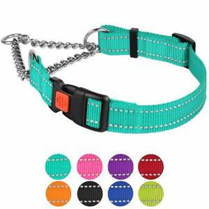 Martingale Dog Collar Training Adjustable Chain Reflective Pet Choke Collars