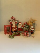Old Time Christmas Tree Ornaments Holiday Decoration vintage assortment Santa