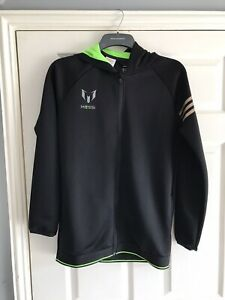 Messi Adidas Hooded Top Age 13-14 Black