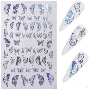 Butterfly Nail Art Stickers Adhesive Sliders Colorful  Transfer Decoration