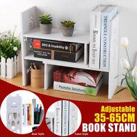 Expandable Desktop Bookshelf Bookcase Organizer Rack Office Storage Shelf Uni