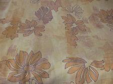 "Golden Orange ""Rising Sun""  Linen/Viscose Blend Fabric. Made in Belgium."
