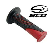 Poigné BCD Noir Rouge guidon Scooter Moto Bike poignée Grip handlebar Red Black