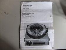 Instructions slide projector KODAK carousel S-AV GB French & German  CD/EMail