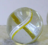 #12284m Larger .96 Inches Vintage German Handmade Coreless Swirl Shooter Marble
