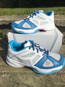 Wilson - Rush Pro Jr 2 - Tennis Shoes UK 4.5  - New with Box! Ice Gry/Wht/denim