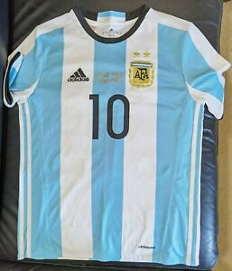 Adidas Argentina 500 goals Celebration Lionel Messi Soccer Jersey 13 to 14 years