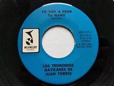 """LOS TREMENDOS GAVILANES Juan Torres - Yo Voy A Pedir Tu Mano LATIN RANCHERA 7"""""""