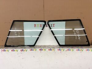 1985-1992 Dodge Colt Vista Rear Quarter Vent Glass Set Left & Right oem
