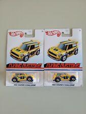 Hot Wheels Mini Cooper S Challenge Yellow - 2020 Flying Customs - Lot of 2