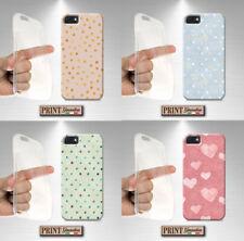 Cubierta para,Iphone,polka dots,silicone,suave,vintage,efecto papel,corazones,