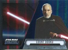 Star Wars Evolution 2016 Blue Parallel Card #98 Count Dooku - Sith Apprentice
