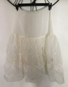 Rare Vintage 50's Zaddoloc Inflatable Layered Lace Tulle Rockabilly Petticoat
