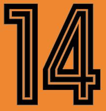 Holland Johan Cruyff 70s Pantalones Cortos 10cms Fútbol Número Letra Fútbol De Impresión De Calor