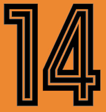 Holland Johan Cruyff 70s Nameset Shirt Soccer Number Letter Heat Print Football