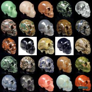 "similar carved skull statue natural assorted gemstone crystal healing 1.2"" - 3"""