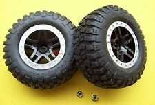 Traxxas Slash 2wd 4X4 Raptor SVT Rear Wheels Tires BFGoodrich T/A wNuts Beadlock