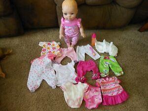 LOT  CLOTHES Luvabella Newborn Interactive Doll Blonde