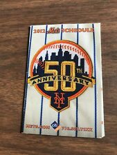 2012 NY METS SCHEDULE - 50TH ANNIVERSARY