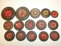 Konvolut 15 alte Räder Reifen mit Felge für Märklin Metallbaukasten + Blechautos
