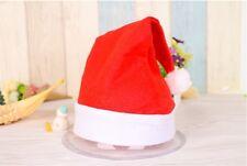 10Pcs New Merry Christmas Xmas Red Santa Claus Hat Cap