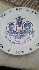 Vintage Prince Charles and Lady Diana Royal Wedding plate by Myott Meakin