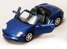 "New 5"" Kinsmart Porsche Boxster S Convertible Diecast Model Toy Car 1:34 Blue"