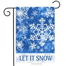"""Let It Snow Snowflakes Winter Garden Flag 12.5"""" x 18"""" Briarwood Lane"""