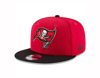 New Era 9Fifty Cap Mens NFL Team Tampa Bay Buccaneers Red Black Snap Back Hat