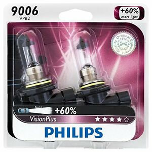 2x Philips 9006 HB4 Upgrade Vision Plus More Bright Halogen Light Bulb Beam 55W