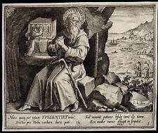 santino incisione 1600* S.FULGENZIO DI RUSPE   le clerc