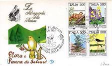 Repubblica Italiana 1985 FDC Filagrano Salvaguardia della Natura