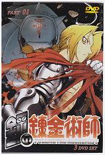FULLMETAL ALCHEMIST PART 1 (DVD,2009,3-Disc Set, English Dubbed)