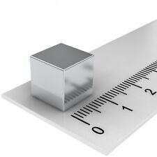 50 STÜCK NEODYM POWER MAGNET WÜRFEL 10x10x10mm N52 VERNICKELT PINNWAND MAGNETE