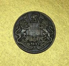 1 / 4 ANNA EAST INDIA COMPANY 1835 MONNAIE des INDES BRITANNIQUES en CUIVRE.