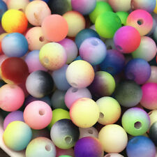 5mm 100pcs Round Pearl Matte multicolored Loose Beads Spacer Jewelry Making Mix