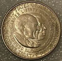 "1952 USA ""GEORGE W CARVER & BOOKER T WASHINGTON"" SILVER HALF DOLLAR COIN"